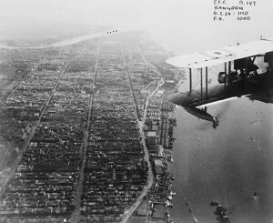 The Empire from the air . Four RAF flying boats tour . Rangoon . 24 July 1928