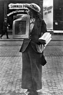 English suffragette, feminist newspaper, 1908