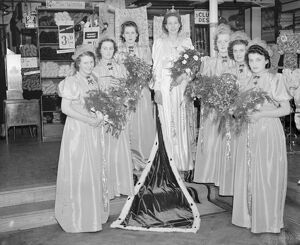 The Erith carnival queen with her attendants. 1939