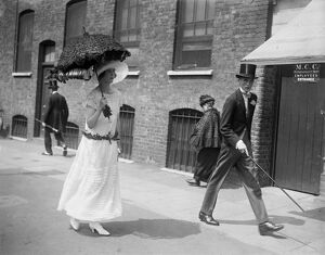 At Eton and Harrow cricket match at Lords, London Lady Mary Thynne and the Earl