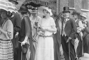 At Eton and Harrow cricket match at Lords, London Lady Mary Thynne waiting in the