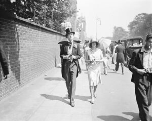 Eton versus Harrow cricket at Lord's Cricket Ground Mr Cecil Beaton and Miss Nancy