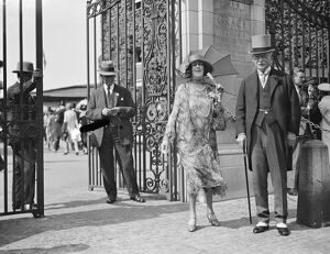 Eton versus Harrow at Lords. Sir Clement and Lady Kinloch Cooke 12 July 1929
