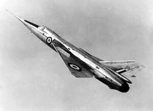 The Fairey Delta II which shattered the world air speed record by reaching 1,132