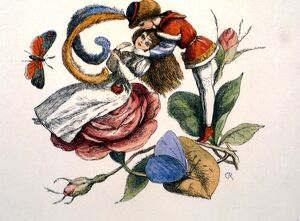 FAIRY TALES - 'Flirting'. From Richard Doyle's In Fairyland