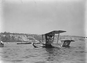 First International Seaplane Race at Bournemouth Squadron Commander B D Hobbs D S O