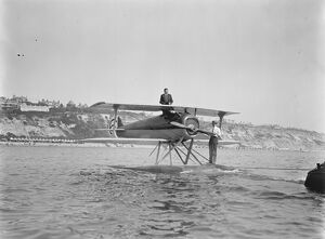First International Seaplane Race at Bournemouth M Sadi Lecointe ( France ) on a