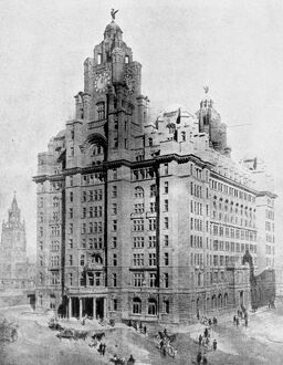 First Sky Scraper in England : The Liverpool Building On May 11, the foundation