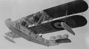 Flying boat. Ex King 's flight from his capital. The Vickers Victoria about to