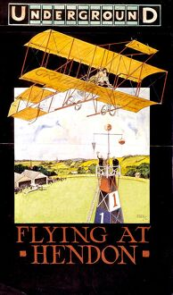 adverts posters/flying hendon 1913 london underground poster tony
