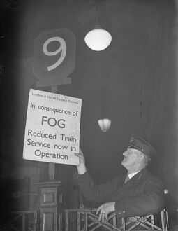 Fog delays trains at Liverpool Street. There was much delay to many INER trains
