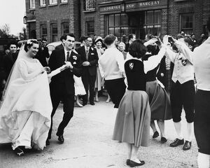 Folk Dancing At Their Wedding. When Miss Margaret Morris (21) married Mr