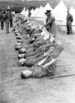 Foot inspection 1939 - Royal West Kent Territorials training