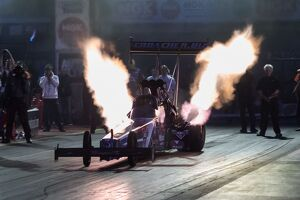 Top Fuel Night Session Euro Finals 2014 Santa Pod Raceway Podington, nr Wellingborough