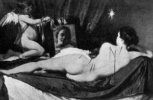 The gashes made in Velasquez. Venus with the Mirror in the National Gallery The harm