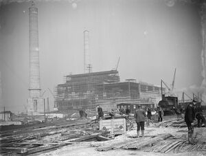 A general view of the new coal electric power station under construction near Dartford
