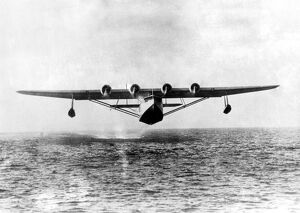 The giant Pan-American Airways flying boat the Flying Clipper, which a few weeks