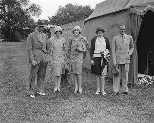 Goodwood week polo tournament at Cowdray Park. Left to right Major Metcalfe