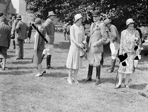 Goodwood week polo tournament at Cowdray Park. Mrs Musgrave Hall and Lord Barney 1929