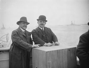 The great naval revie at Spithead M Herriot and M Theunis, the French and and Belgian