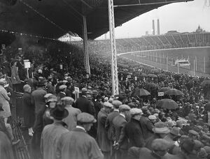 Greyhound race meeting at the White City. A portion of the huge crowd. 1 August 1927