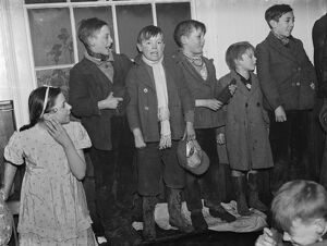 Gypsies childrens party , St Mary Cray . 19 January 1939 Travellers Romany Gypsy
