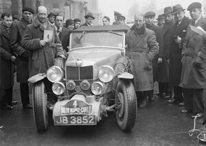 H E Symonns, Monte Carlo Rally driver. 22 January 1935