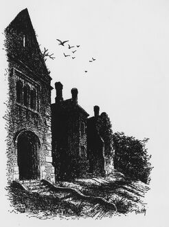 From Haunted Houses by Joseph Braddock Brede Place Sussex