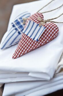 Heart shaped lavender bags to scent linen credit: Marie-Louise Avery / thePictureKitchen
