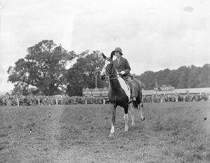 Hertfordshire Show at Hatfield Park Miss Marjorie Packer on her new skewball pony 18