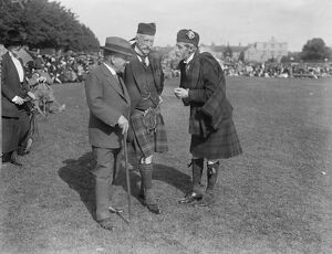 Highland games at Aboyne. Marquess of Aberdeen and the Marquess of Huntly and Dr