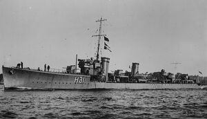HMS Sterling S class destroyer. 26 January 1927