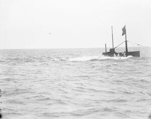 HMS Submarine No 3 diving 30 March 1920