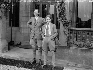 The Hon Angela Pearson with her fiance, Mr George Anthony Murray, photographed at