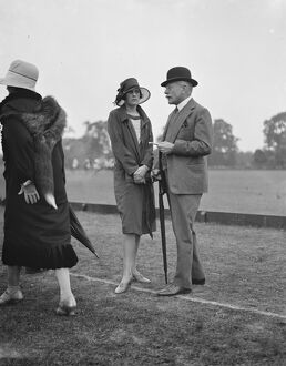 Hurricanes versus Ranelagh at Ranelagh. Earl Haig and Lady Victoria Haig. 11