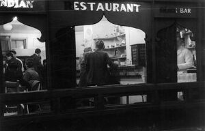 An Indian Restaurant in Soho, London, England. 31 May 1947