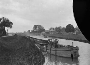 Inland Waterways in Rural England A scene on the River Ouse at West Acre, Norfolk
