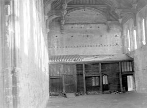 Interior of Eltham Castle, London. 1934