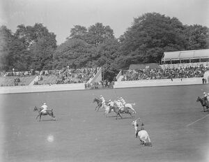 International Polo trial at Hurlingham America versus Hurlingham An exciting race