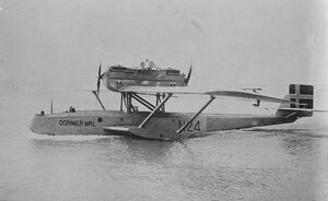 The Italian round the world flight. The Dornier Wal seaplane which left Pisa on July 24