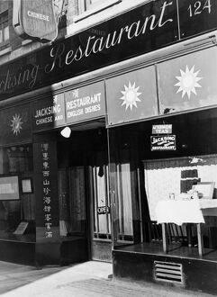 The Jacksing Chinese Restaurant at 124 Wardour Street, Soho, London, England. undated