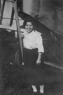 Japan 's first woman aviator Miss Seiko Hyodo 11 August 1922
