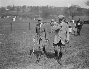 Jersey Cattle Show at Tunbridge Wells Sir John Blunt and his son 2 May 1923