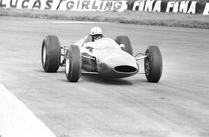 John Surtees driving his Ferrari during the 16th International Trophy Race at Silverstone