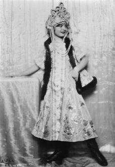 Keeping in memory the picturesque costume of Pre war Russia. Entertainer in Paris