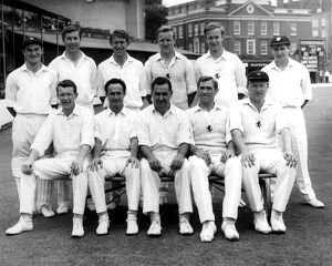 Kent County Cricket Team at The Oval, Kennington. Back Row - Left to Right A.Knott