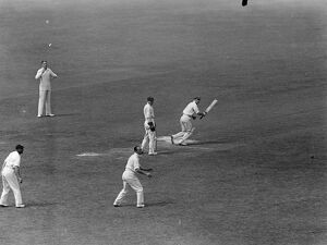 Kent versus Surrey in the County Championship Les Ames batting for Kent. 31 July 1928