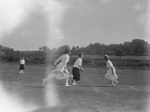 Kent versus Sussex, ladies stoolball match at Horsham cricket grounds