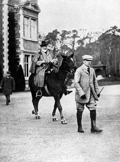 King Edward VII riding out to shoot at Sandringham, early 1900s