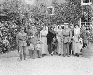 King Manuel and Queen Augusta of Portugal visit the Princess Louise Military Orthopaedic